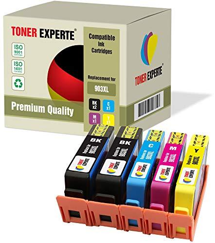 Kit 5 XL TONER EXPERTE Sostituzione per HP 903 903XL Cartucce d'inchiostro compatibili con HP Officejet Pro 6950 6960 6970 6975 (2 Nero, Ciano, Magenta, Giallo)