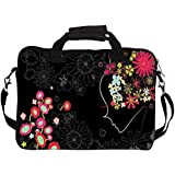 Snoogg 17 inch Laptop Notebook Slipcase Sleeve With Strap Soft Case Carrying Case for Macbook Pro Acer Asus Dell Hp Sony Toshiba