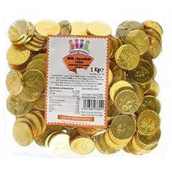 Monedas de chocolate para bolsas de fiestas.