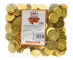 Idea Regalo - Monete al cioccolato del latte - sacchetto da 1kg circa 135, ideale per partiti di pirata o favori di sacchetti di partito