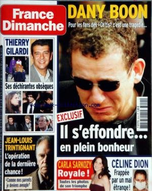FRANCE DIMANCHE [No 3214] du 04/04/2008 - DANY BOON S