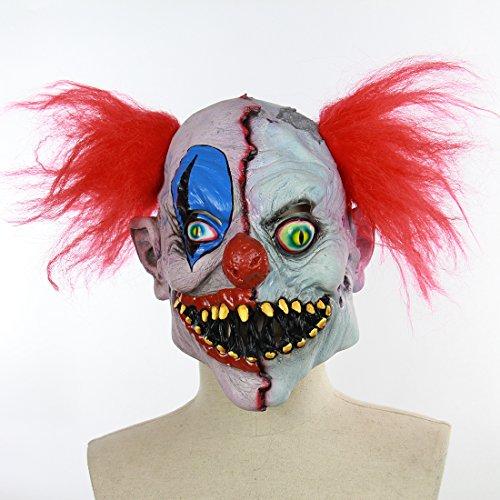 Clown Kostüm Beängstigend - Halloween Latex Maske Beängstigend Rotten Gesicht Clown 3D Gruselig Neuheit Kostüm Partei Cosplay Spielzeug Eine Größe
