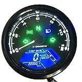 KKmoon Multifunktionale Kilometerzähler Motorrad LCD Meter Digital Geändert Meter Wasserdichte Tacho Monitor Tankanzeige Tachometer 2,4 Zylinder 1-6 Getriebe Einstellbar