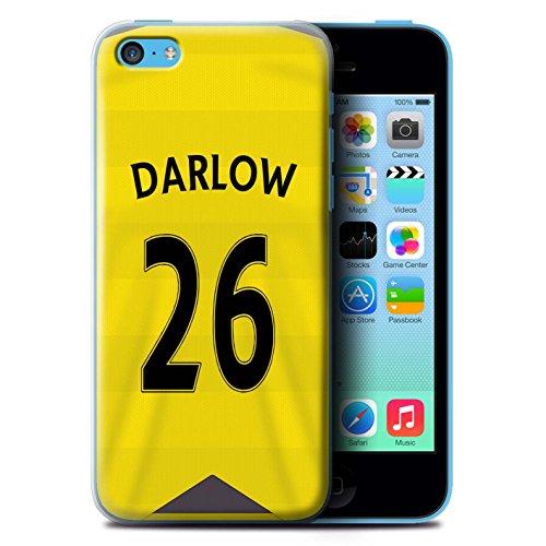 Offiziell Newcastle United FC Hülle / Case für Apple iPhone 5C / Pack 29pcs Muster / NUFC Trikot Home 15/16 Kollektion Darlow