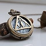 Harry Potter Heiligtümer des Todes Taschenuhr mit Halskette, bronze antik
