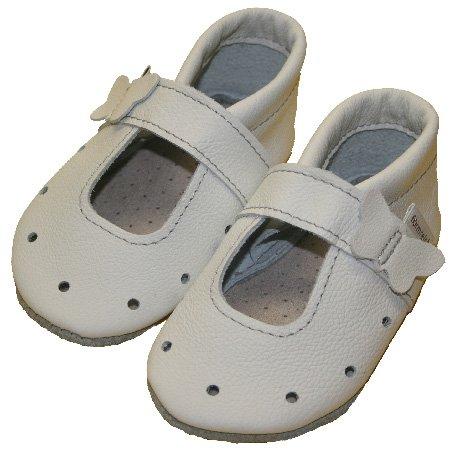 Ledersandalen chaussures d'été pour bébé-blanc Blanc - Blanc