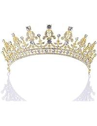 Remedios bonita Tiara de la boda Corona Fiesta Prom Princesa Diadema para la novia