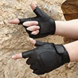 #5: Motorcycle Riding Sports Tactical PU Half Finger Gloves