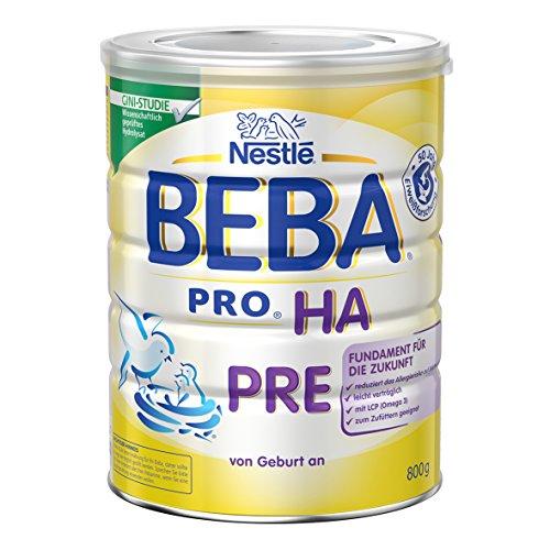 Nestlé Beba Pro Ha Pre Babymilch zum Zu füttern für Säuglinge, 6er Pack (6 x 800 g)