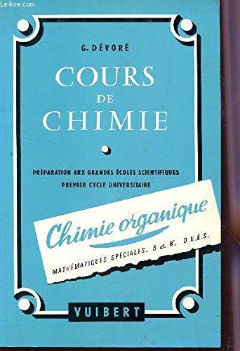 COURS DE CHIMIE - CHIMIE ORGANIQUE / MATHEMATIQUES...