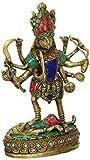 Anonymous Artist Große Maa Kali Messing Statue Hindu Religiöse Göttin Devi Idol-Indian Gottheit handgefertigt Skulpturen