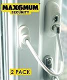 UAP - Dispositivo di bloccaggio di porte e finestre per la sicurezza dei bambini, confezione da 2, colore: Bianco