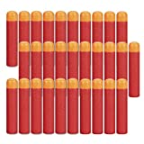 HONGCI 9,5cm Eva Darts Pfeile Für Alle Nerf N-Strike Elite MEGA Blaster Toy Gun, Nerf MEGA Zubehör,Spielzeug Pistole Scharfschütze Bullet (30Pcs Rot)