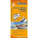 Aostatal, Piemont, Lombardei (Regionalkarten)