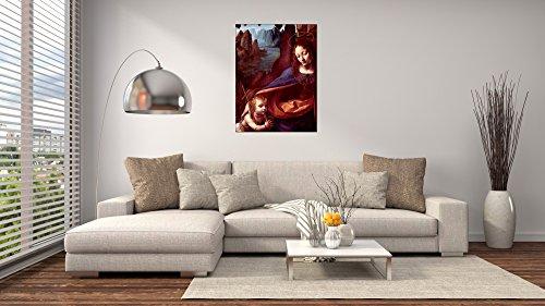 ArtPlaza Da Vinci Leonardo – Madonna in The Rock Cave Detail, Dekorative Paneele, Holz, Mehrfarbig, 60 x 1.8 x 80 cm