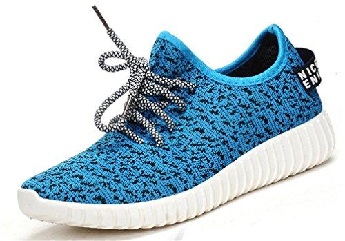 NEWZCERS Casual scarpe da ginnastica di moda Leggero piedi scarpe sportive per gli uomini Blau