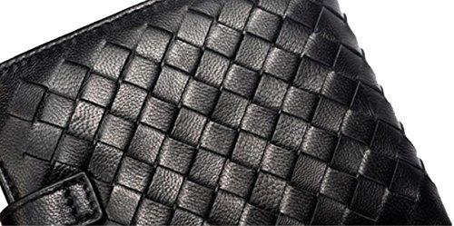 La Signora Pelle Di Pecora Woven Portafoglio Black