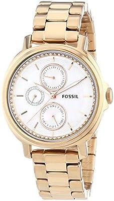 Fossil Chelsey - Reloj de cuarzo para mujer, con correa de acero inoxidable, color 0