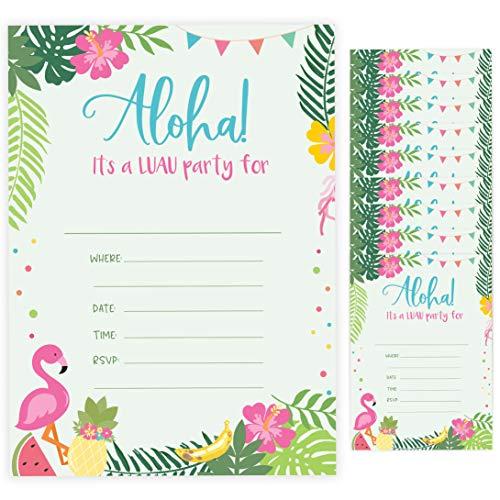 Luau Style 1 Einladungskarten zum Geburtstag, mit Umschlägen, 10 Stück