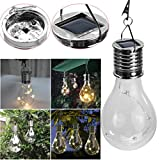 Covermason 1PC LED Waterproof Solar Rotatable Outdoor Garden Camping Hanging LED Light Lamp Bulb (A(MR))