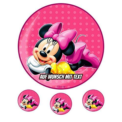 tstag Tortenbild Zuckerbild Oblate Motiv: Disney Minnie Maus 09 (Oblatenpapier) ()