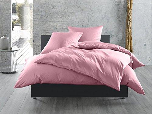 Mako-Satin Seitenschläferkissen Bezug aus 100% Baumwolle (Baumwollsatin) uni / einfarbig (40 cm x 145 cm, Rosa)