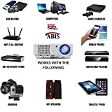 HD Projector Smart WIFI LED Projector - HD 720, Full HD 1080p HDMI Projector for Home Cinema, Gaming, Home Entertainment, Multimedia, Home Theatre Projector, Pubs, Clubs, Hotels, Office, Conference, PowerPoint Presentation- ABIS HD6000 Plus Model