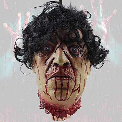 Abgetrennter Kopf Halloween - jxjarnet Halloween-Requisite Horror Latex hängend abgenommen