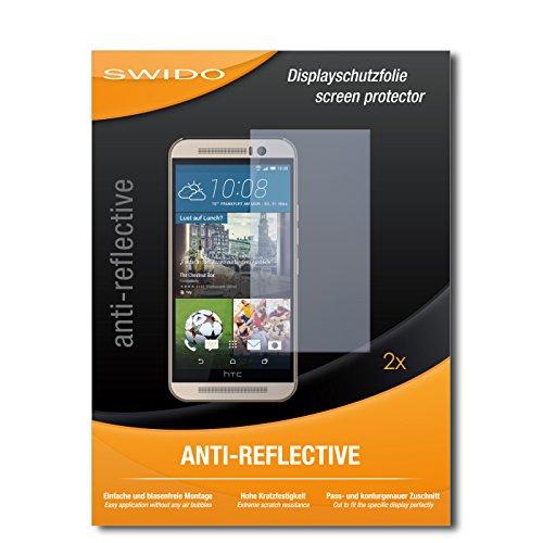 SWIDO Schutzfolie für HTC One M9s [2 Stück] Anti-Reflex MATT Entspiegelnd, Hoher Härtegrad, Schutz vor Kratzer/Bildschirmschutz, Bildschirmschutzfolie, Panzerglas-Folie