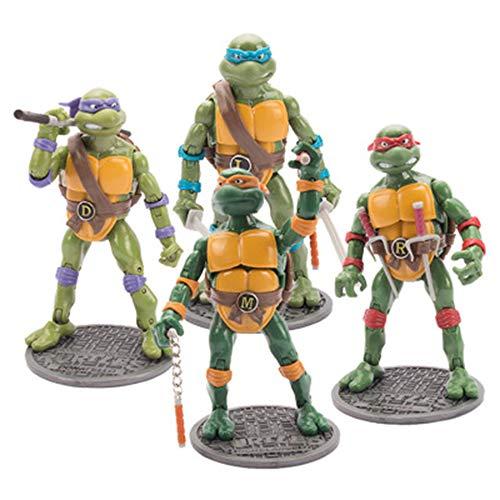 Classic Teenage Mutant Ninja Turtles - HAIZI FIGURE 4 STÜCKE Set Teenage