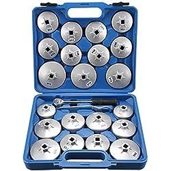 Allright 23pièce en alliage d'aluminium de football type de filtre à huile Clé Ensemble de clé à douille retrait Outil de garage