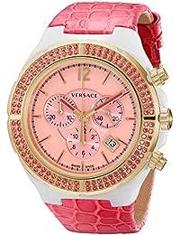 Versace 28CCP15D111 S111 - Reloj de pulsera unisex, piel, color rosa