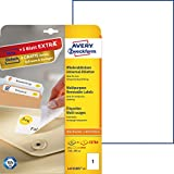 Avery Zweckform L4735REV-25 Etiketten (A4, 25 Plus 5 Universal-Etiketten extra, ablösbar, 210 x 297 mm) 30 Blatt, weiß