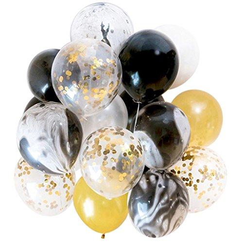 Homyl 20er-Set Latexballon Konfetti Ballon Luftballon Party Hochzeit und Geburtstag Dekoration - Gold