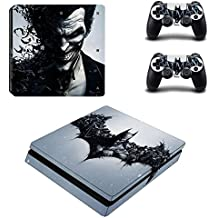 Hytech Plus Batman And The Joker Theme Sticker For PS4 Slim Console & 2 Controllers