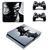 Hytech Plus Batman and The Joker Theme Sticker for PS4 Slim Console and 2 Controllers