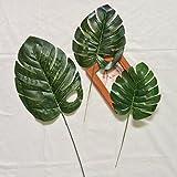 Homyl 5 Stück Groß Palmen Grün Kunstblätter Deko Künstliche Blätter, Wohnkultur - M