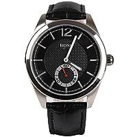 Hugo Boss 0 - Reloj de cuarzo para hombre, con correa de cuero, color negro de Hugo Boss