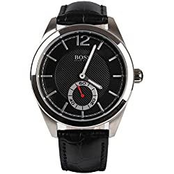 1512793 Hugo Boss Men's Watch Analogue Quartz Black Dial Black Leather Strap