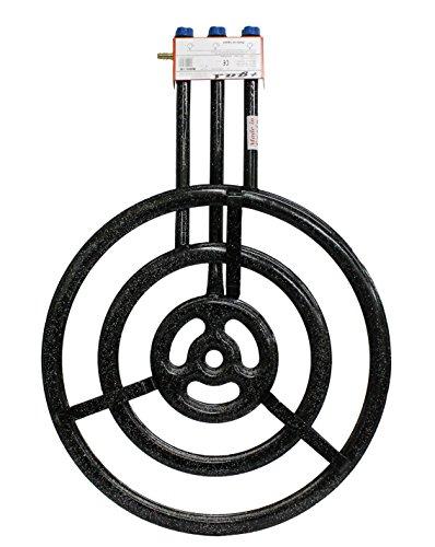 Garcima 76060–Paella-Gaskocher, flach, l-603Flammen, 61x 88,5x 14cm, schwarz