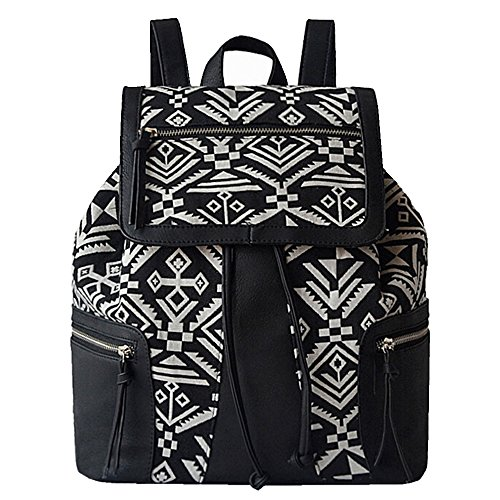 BYD - Blue Male Femme Sacs portés dos Bag School Bag Travel Bag PU en Cuir Bottom Noir