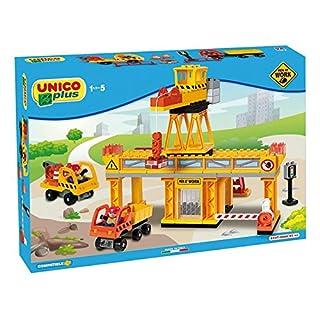 Androni Spielzeug 8527–0000–Große Baustelle mit Kran und zwei Mittel
