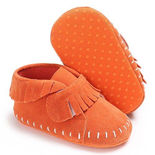 Igemy 1Paar Baby Schuhe Jungen Mädchen Neugeborene Krippe Soft Sole Sneakers Orange