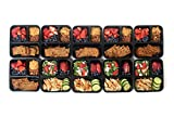 California Home Goods 3 Compartment Bento Reusable Food Storage Containers with Lids, Set of 10, for Meal Prep, 21 Day Fix