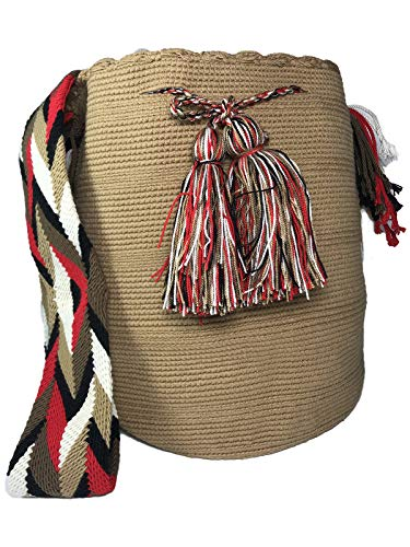 Bag In Real Hand Unicolor Wayuu Large Mochila Ethnic Colombia 100Crochet Woven Cotton dCxoBre