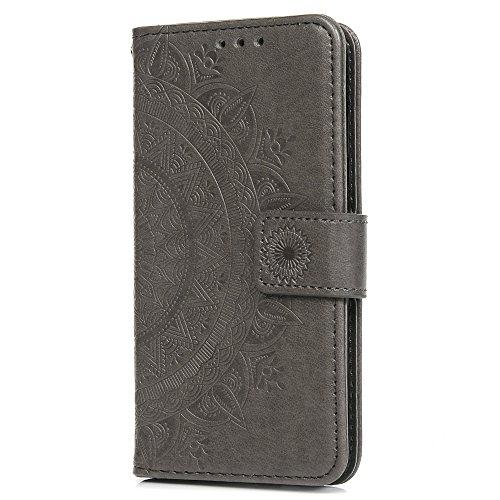 Samsung Galaxy J52017, stoßfest Flip PU Leder Wallet Fall geprägt Totem mit Ständer ID Kartenfächer Magnetverschluss Folio Notebook Schutz Haut Fall für Samsung Galaxy ()