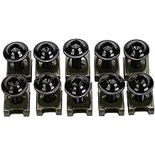 CICMOD 10x M6 CNC Tornillos Tuercas para Carenado 20mm para Moto Motocicletas, Negro