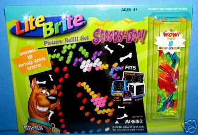 lite-brite-picture-refill-set-scooby-doo-with-bonus-colored-pegs