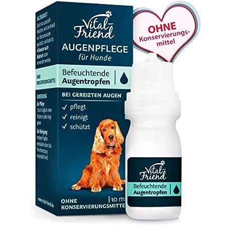 Vital-Friend – sanfte Augenpflege & Augenreinigung für Hunde – Konservierungsmittelfrei – befeuchtende Augentropfen, Schutz, Pflege, 10 ml