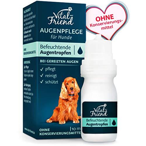 Vital-Friend - sanfte Augenpflege & Augenreinigung für Hunde - Konservierungsmittelfrei - befeuchtende Augentropfen, Schutz, Pflege, 10 ml